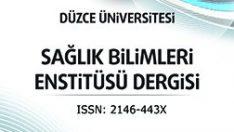 Düzce Üniversitesi Sağlık Bilimleri Enstitüsü Dergisi