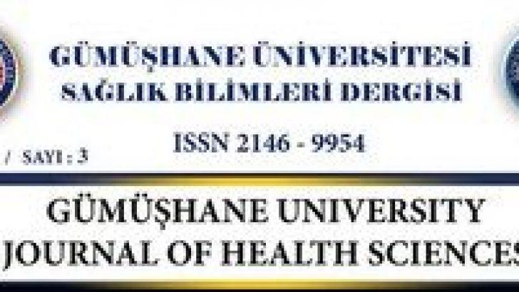Gümüşhane Üniversitesi Sağlık Bilimleri Dergisi