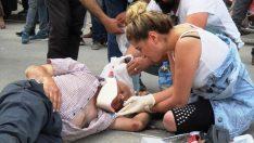 Ambulans Bekleyen Yaralıların Yardımına Hemşire Yetişti